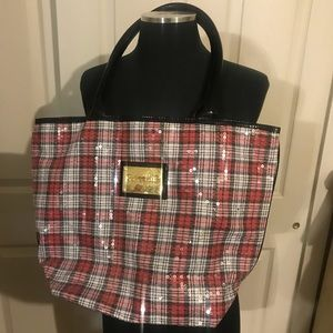 Very nice large sequined betseyville tote/bag